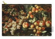 Still Life With Apples And Grapes Carry-all Pouch
