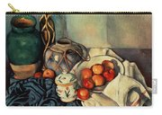 Still Life With Apples Carry-all Pouch by Paul Cezanne