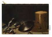 Still Life With Armor Shield Halberd Sword Leather Jacket And Drum Carry-all Pouch