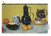 Still Life With Blue Enamel Coffeepot, Earthenware And Fruit, 1888 Carry-all Pouch
