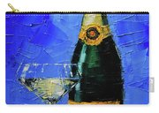Still Life With Champagne Bottle And Glass Carry-all Pouch