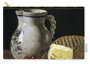 Still Life With Cherries  Cheese And Greengages Carry-all Pouch