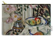 Still Life With Daisies And Fruit Carry-all Pouch