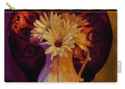 Still Life With Daisies And Grapes - Oil Painting Edition Carry-all Pouch