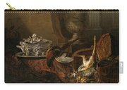 Still Life With Dead Game And A Silver Tureen On A Turkish Carpet Carry-all Pouch