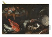 Still Life With Fish And Oysters  Carry-all Pouch