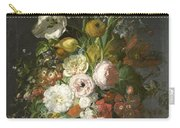Still Life With Flowers In A Glass Vase Carry-all Pouch