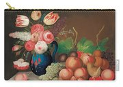 Still Life With Fruit And Flowers Carry-all Pouch