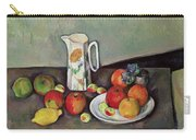 Still Life With Milkjug And Fruit Carry-all Pouch by Paul Cezanne