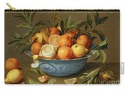 Still Life With Oranges And Lemons In A Wan-li Porcelain Dish  Carry-all Pouch by Jacob van Hulsdonck