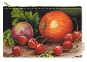 Still Life With Peaches And Cherries  Carry-all Pouch