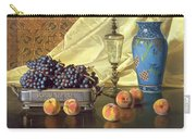 Still Life With Peaches Carry-all Pouch by Edward Chalmers Leavitt