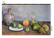Still Life With Pitcher And Fruit Carry-all Pouch by Paul Cezanne