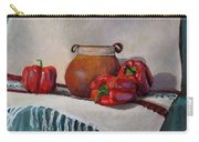 Still Life With Red Peppers Carry-all Pouch