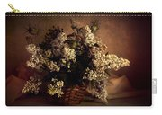 Still Life With White Flowers In The Basket Carry-all Pouch