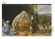 Still Life With Wine And Fruit Carry-all Pouch