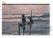 Stilt Fishermen Of Sri Lanka Carry-all Pouch