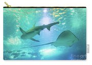 Sting Ray And Shark Carry-all Pouch