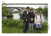Stirling School Children By The Medieval Bridge  Carry-all Pouch