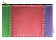 Stitched Leather Look Colorful Squares For Wall Decorations Carry-all Pouch