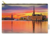 Stockholm Fiery Sunset Reflection Carry-all Pouch