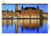 Stockholm Riddarholmen Blue Hour Reflection Carry-all Pouch