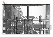 Stockyard Gate Black And White Carry-all Pouch