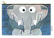 Stomp The Elephant Recycled License Plate Animal Art Carry-all Pouch