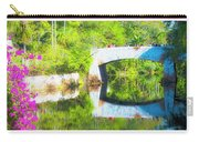 Stone Bridge, Canal And Bougainivillea Carry-all Pouch