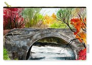 Stone Bridge In Maine  Carry-all Pouch