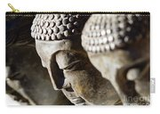 Stone Carved Buddha Faces Carry-all Pouch