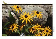 Stone Flowers Black Eyed Susan Carry-all Pouch