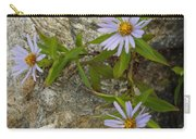 Stone Flowers Blue Carry-all Pouch