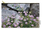 Stone Flowers Pink Carry-all Pouch