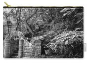 Stone Stairway Along The Wissahickon Creek In Black And White Carry-all Pouch