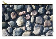 Stone Wall At Gallup Park Carry-all Pouch
