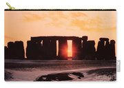 Stonehenge Winter Solstice Carry-all Pouch