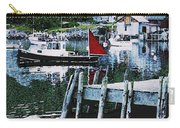 Stonington Harbor With Pier Maine Coast Carry-all Pouch