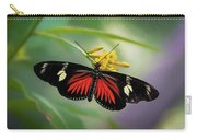 Butterfly, Stop And Smell The Flowers Carry-all Pouch by Cindy Lark Hartman