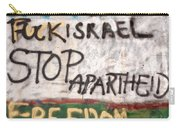 Stop Apartheid Carry-all Pouch
