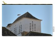 Stork And Nest On Roof In Faro. Portugal Carry-all Pouch
