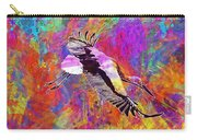 Stork Fly Elegant Feather Bird  Carry-all Pouch