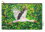 Stork In Flight Carry-all Pouch