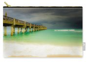 Storm Arrives At The Pier Carry-all Pouch