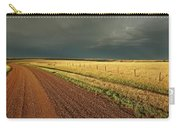 Storm Clouds Along A Saskatchewan Country Road Carry-all Pouch