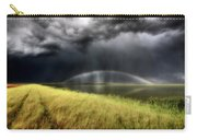Storm Clouds And Rainbow Over Chaplin Lake Marshes Carry-all Pouch