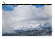 Storm Clouds And Snow On Pikes Peak Carry-all Pouch