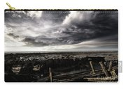 Storm Clouds Over Beached Shipwreck Carry-all Pouch