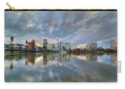 Storm Clouds Over Portland Skyline During Sunset Carry-all Pouch