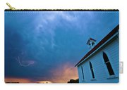 Storm Clouds Over Saskatchewan Country Church Carry-all Pouch